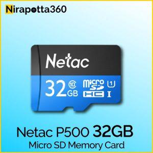 NETAC P500 32GB MICRO SD MEMORY CARD Price In Bangladesh